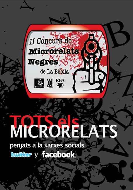 Textos recoplilados en el II Concurs de Microrelats Negres de la Bòbila (Descargar PDF o leer online pinchando aquí.)